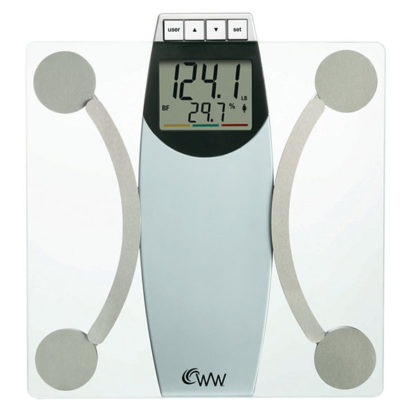 "Weight Watchers® 2"" LCD Glass Body Analysis Scale"