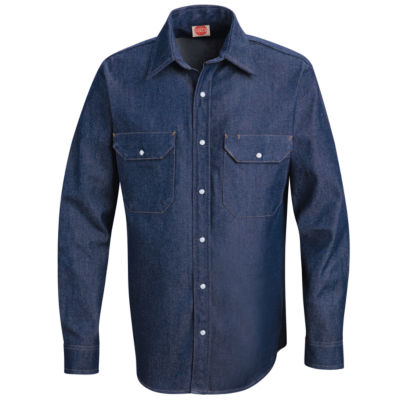 Red Kap Long Sleeve Denim Workshirt Big and Tall