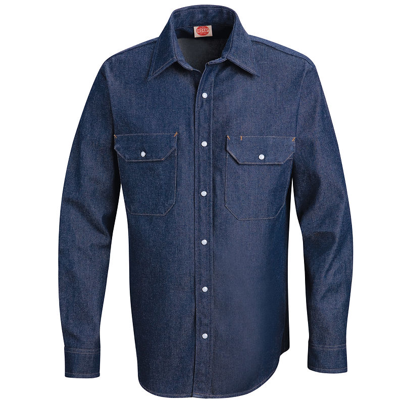 image of Red Kap Deluxe Denim Shirt-1c22e99