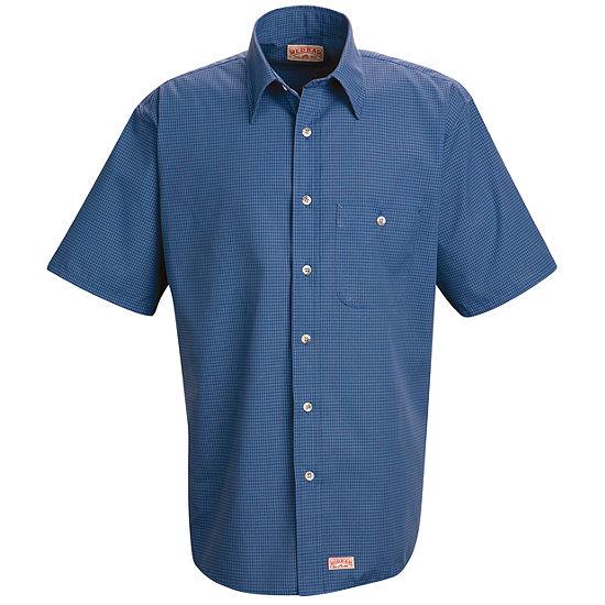 Red Kap SP84 Mini Plaid Uniform Men's Shirt