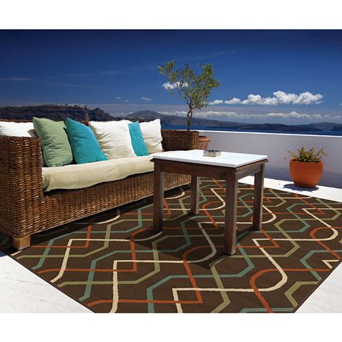 Covington Home Montego Swizzle Indoor/Outdoor Rectangular Rug