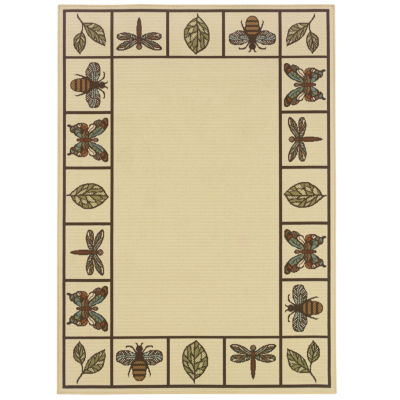 Covington Home Martinique Summer Buzz Indoor/Outdoor Square Rugs
