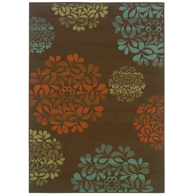 Covington Home Martinique Nosegay Indoor/Outdoor Rectangular Rug