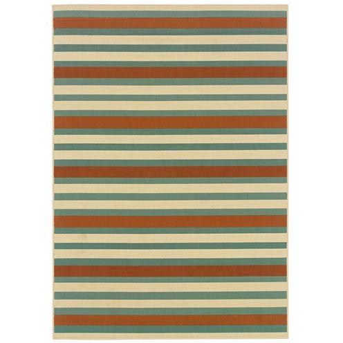 Covington Home Montego Stripe Indoor/Outdoor Rectangular Rug