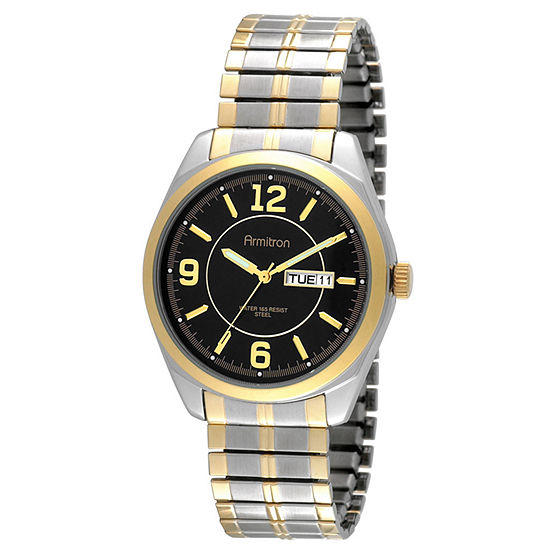Armitron All Sport Mens Two Tone Stainless Steel Expansion Watch-20/4591bktt