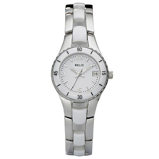 Relic By Fossil Womens Silver Tone Stainless Steel Bracelet Watch-Zr11894