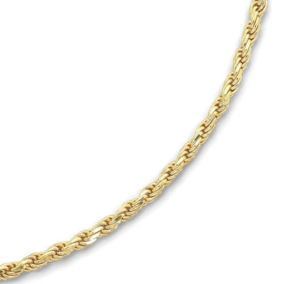 """Made in Italy 18K/Silver 24"""" 3.75mm Rope Chain"""