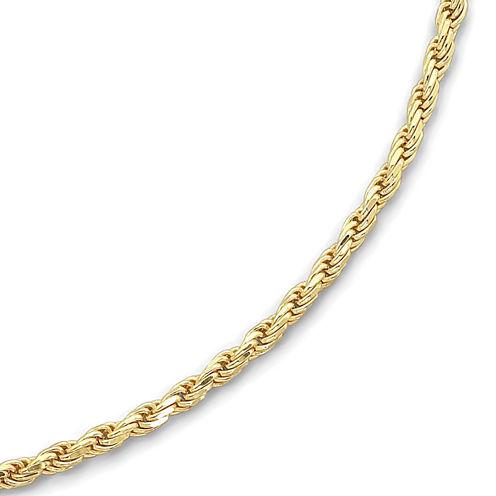 "Made in Italy 18K/Silver 24"" 3.75mm Rope Chain"
