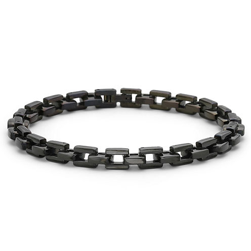 """Men's 9"""" Link Bracelet Stainless Steel"""