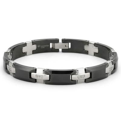 Men's Diamond Bracelet 1/8 CT. T.W. Stainless