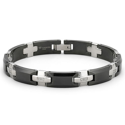 Men's Diamond Bracelet 1/8 CT. T.W. Stainless