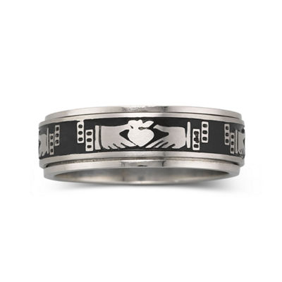Men's Stainless Steel Claddagh Ring