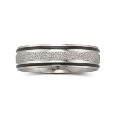 Mens 7mm Band Stainless Steel