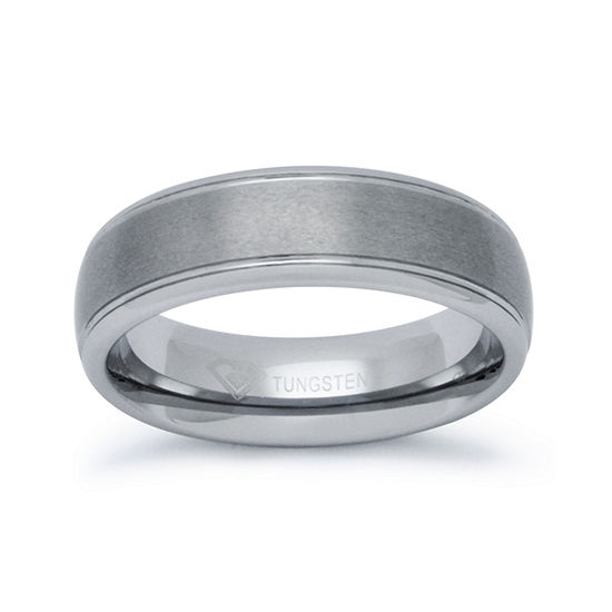 Mens 6mm Tungsten Comfort Fit Ring