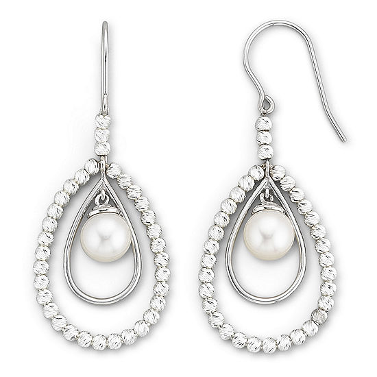 Cultured Freshwater Pearl Sparkle Bead Earrings