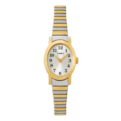 Timex® Womens Oval Expansion Strap Watch T2M570