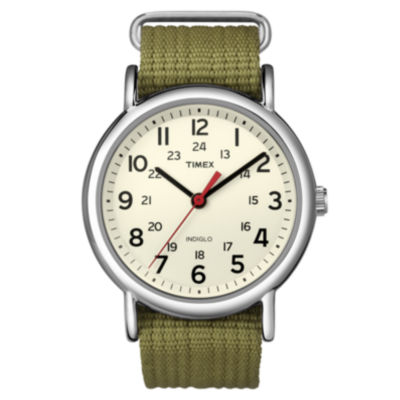 Timex Mens Green Strap Watch-T2n6519j