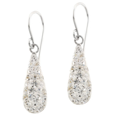 Silver Treasures Pear Drop Earrings