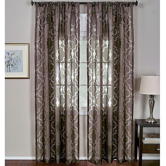 Montego Rod-Pocket Curtain Panel