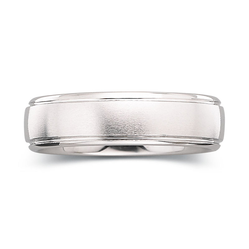 Mens 6mm Tungsten Carbide Ring