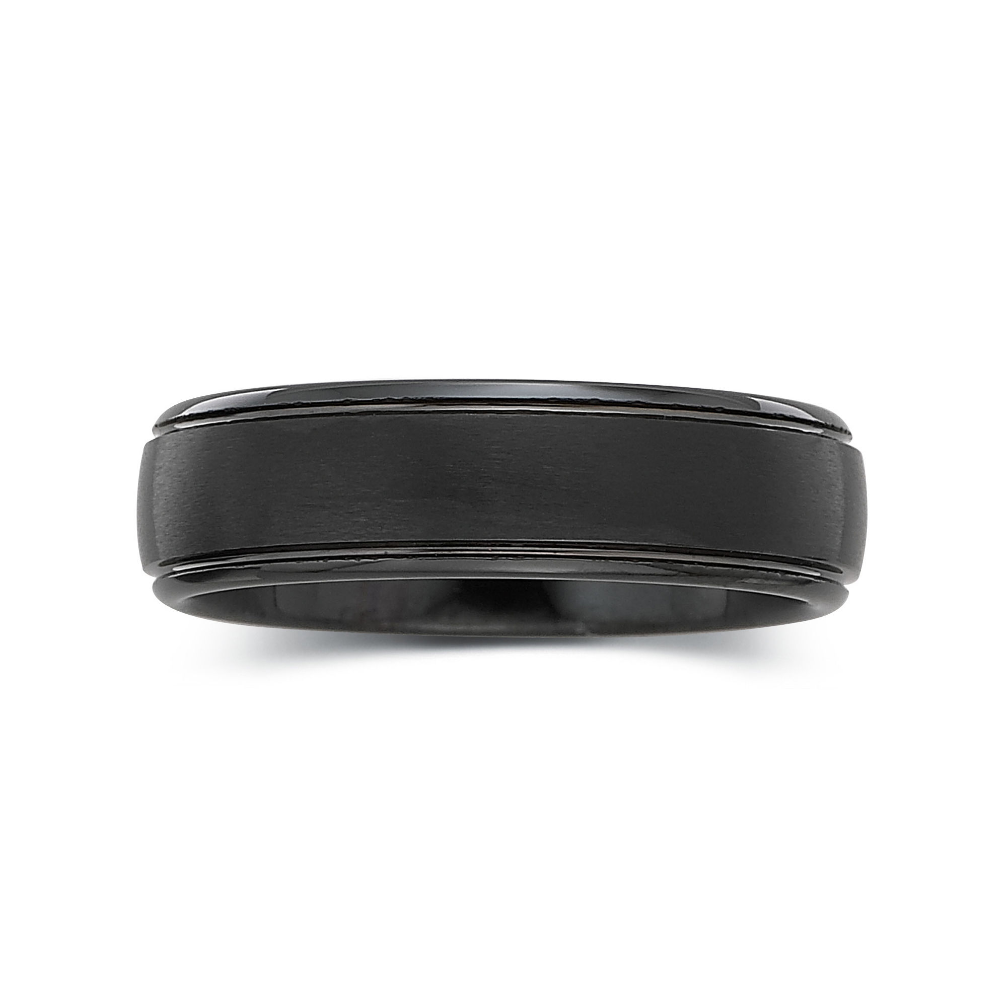 Men's 6mm Black Tungsten Carbide Ring