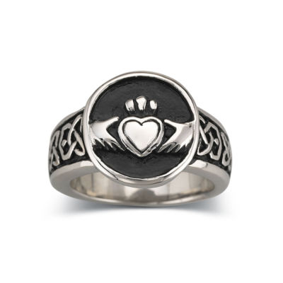 Men's Claddagh Band Stainless Steel