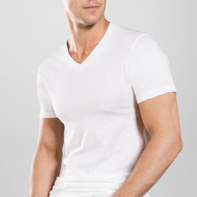 Stafford® 4-pk. Blended Cotton V-Neck T-Shirts–Big & Tall