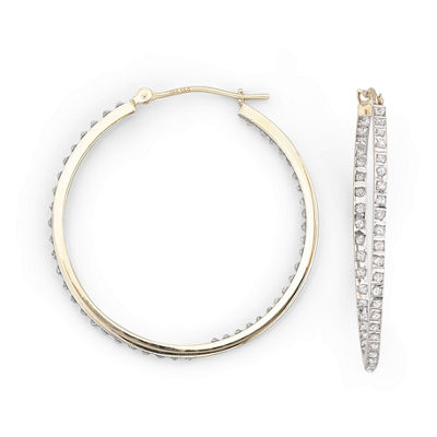 Diamond Fascination™ Earrings, 31.9mm Round Hoops
