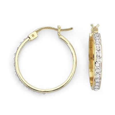 Diamond Fascination™ 20-25mm Hoop Earrings