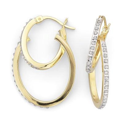 Diamond Fascination™ 32.1mm Double Hoops