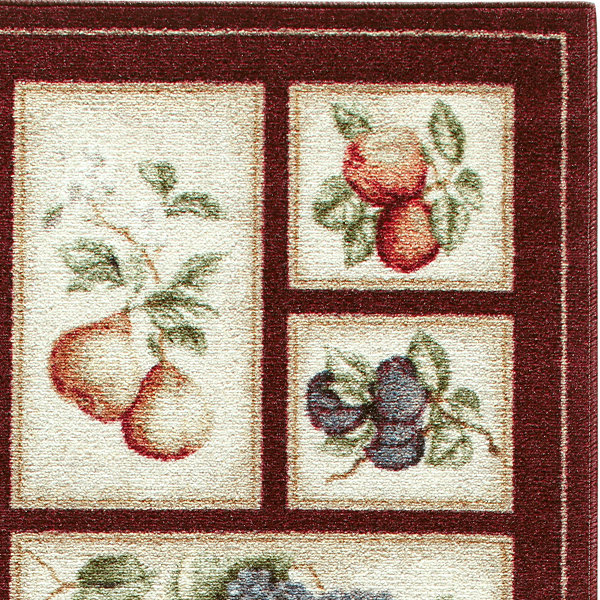Fresh Fruit Washable Runner Rug