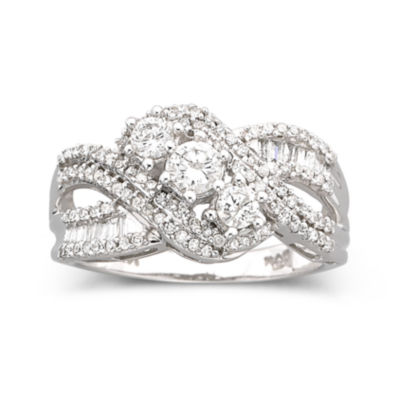 Love Lives Forever™ 3/4 CT. T.W. Diamond 10K White Gold 3-Stone Ring