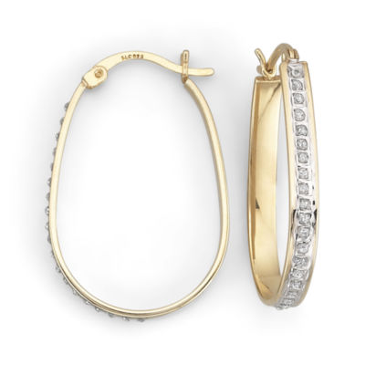 Diamond Fascination™ Hoop Earrings, Pear-Shaped