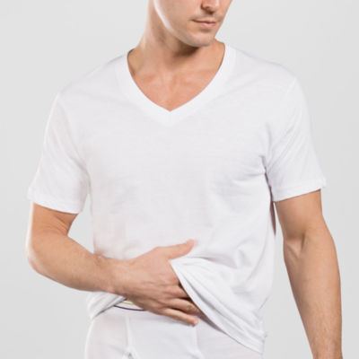 Stafford® 4-pk. Cotton V-Neck T-Shirts–Big & Tall