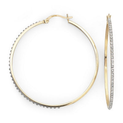 Diamond Fascination™ 48.7mm Round Hoop Earrings
