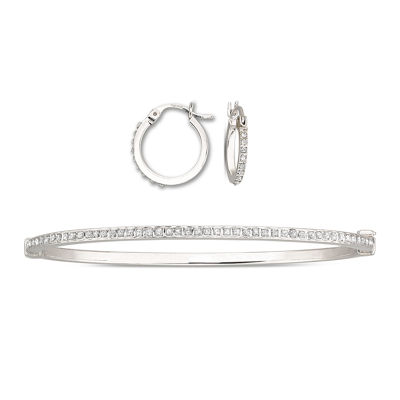 Diamond Fascination™ Earring & Bracelet Set