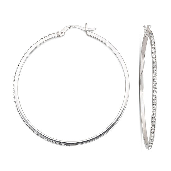 Diamond Fascination 48 7mm Round Hoop Earrings