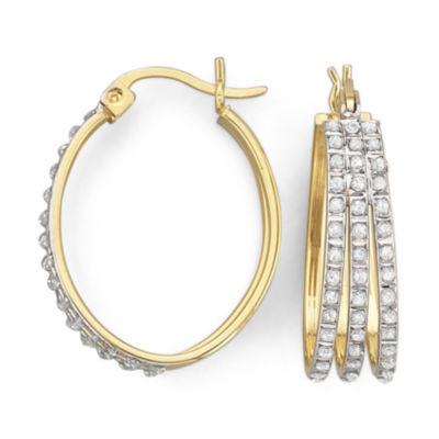 Hoop Earrings, Diamond Fascination™ Triple Row