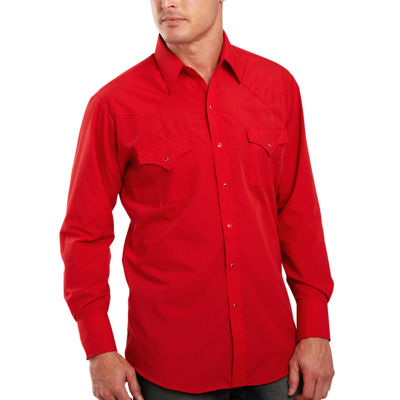 Ely Cattleman® Long-Sleeve Button-front Snap Shirt