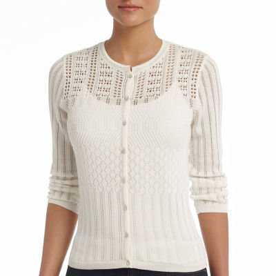 MNG by Mango® Cardigan, Sheer Button Front