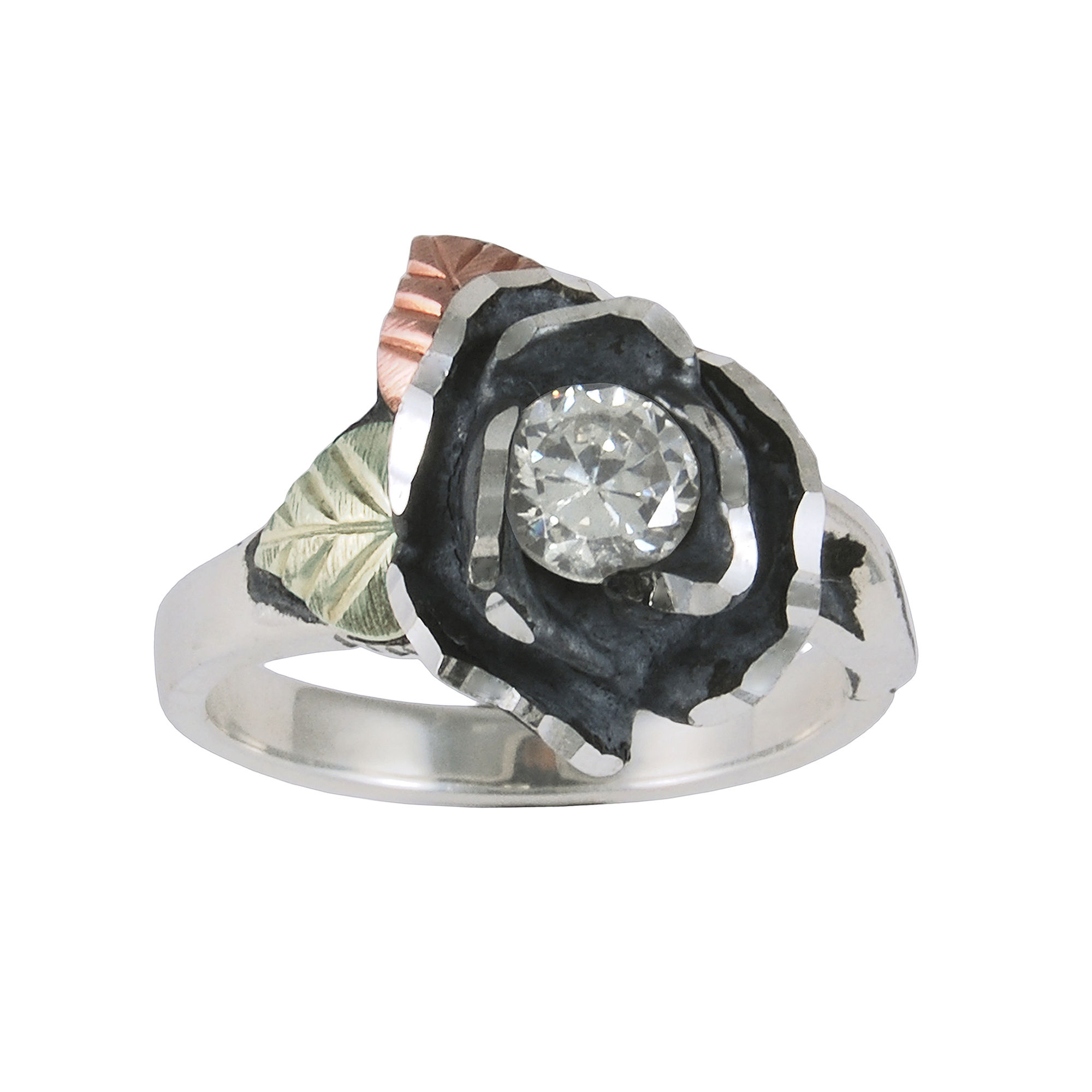 Black Hills Gold Jewelry by Coleman Rose Cubic Zirconia Ring