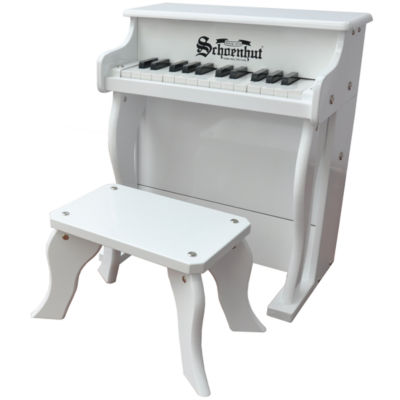 Schoenhut® White Elite 25-Key Spinet Toy Piano