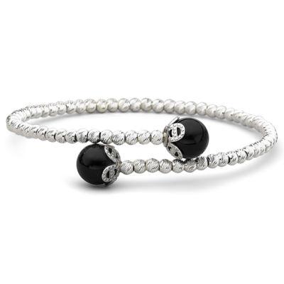 Genuine Onyx & Sparkle Bead Bracelet