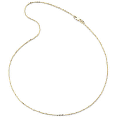 "Made in Italy 14K Yellow Gold 16-18"" Crisscross Chain"