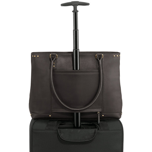 "SOLO 16"" Leather Laptop Tote"