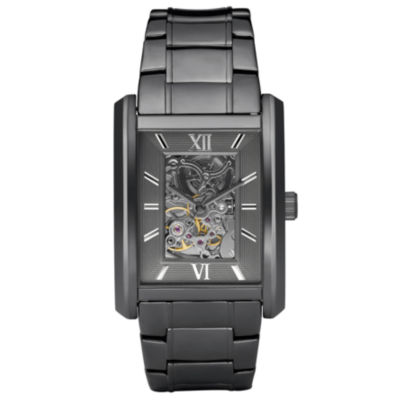 Relic® Mens Gunmetal Automatic Skeleton Watch ZR77206