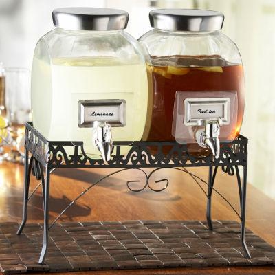 Williamsburg Double Glass Beverage Dispenser
