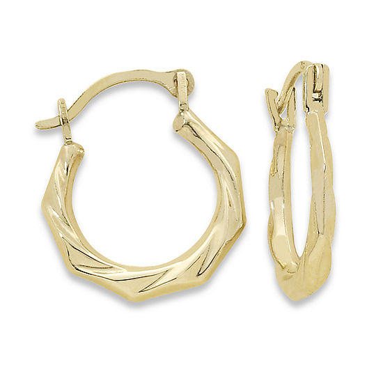 Child's 14K Gold Twist Hoop Earrings