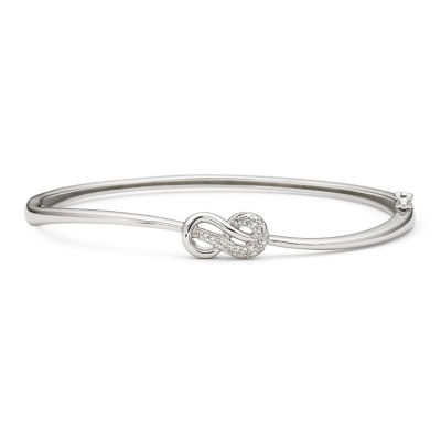 Infinite Promise 1/10 CT. T.W. Diamond Sterling Silver Bangle Bracelet