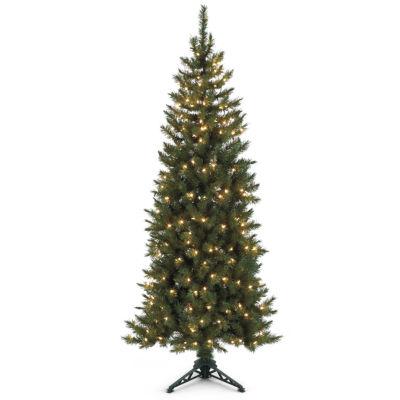 6.5' Pre-lit Spruce Corner Christmas Tree